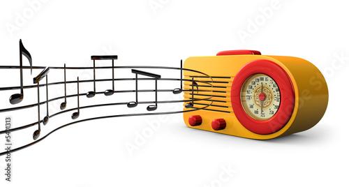 A Retro 1950s radio