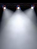 3 Spotlights Shining poster