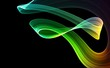 Green 3D rendered abstract background