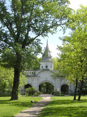 Entrance to the territory of Pokrovskiy of the cathedral