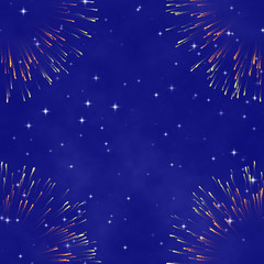 the star night sky, abstract cosmic background with firework