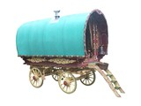 A Traditional Gypsy Horse Drawn Caravan. poster