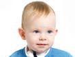 12-month old blue eyed toddler