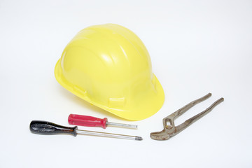 Helmet and tools