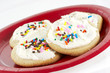 home made sugar cookies with icing and sprinkles