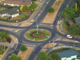 A Traffic Roundabout  for right hand drive cars  poster