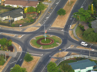 A Traffic Roundabout  for right hand drive cars