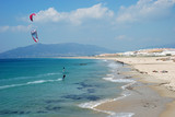 Kite surfing in Tarifa, southern Spain poster