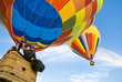 Leinwanddruck Bild - hot air balloon and balloonists
