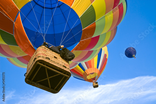 Poster Ballon hot air balloons from above