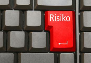 Tastatur mit Risiko Taste