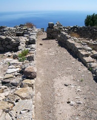 part of the ruins of ancient thira on the island of santorini 06