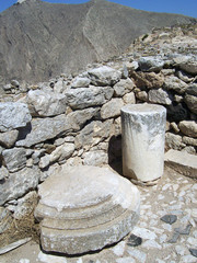 part of the ruins of ancient thira on the island of santorini 04