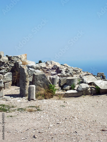part of the ruins of ancient thira on the island of santorini 07
