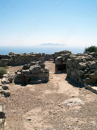 part of the ruins of ancient thira on the island of santorini 05