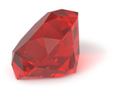 Ruby gemstone isolated poster