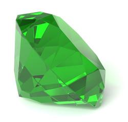 Emerald gemstone isolated