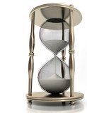 Hourglass. Concept of time in business. poster