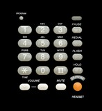 Phone keypad isolated over a black background poster
