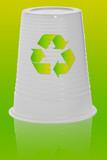 gobelet plastique recycler poster