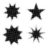 halftone star shapes for design poster
