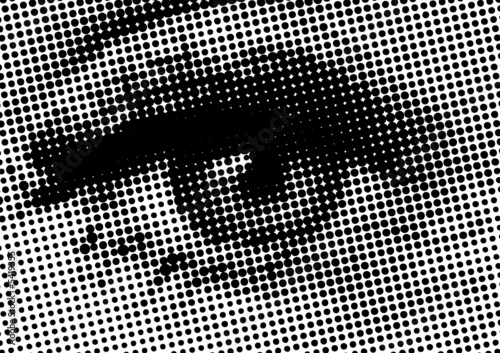 vector halftone eye shape for backgrounds and design