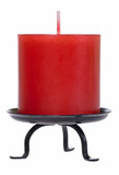 Candle cutout isolated on white background with clipping path poster