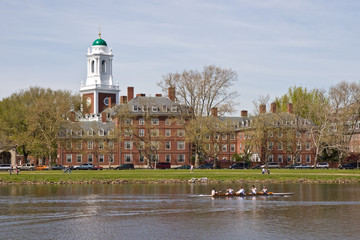 Harvard dorm along the Charles