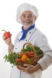 Fototapety Portrait of happy attractive cook