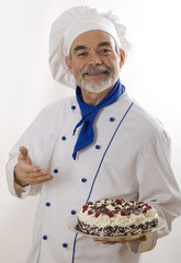 Portrait of happy attractive cook