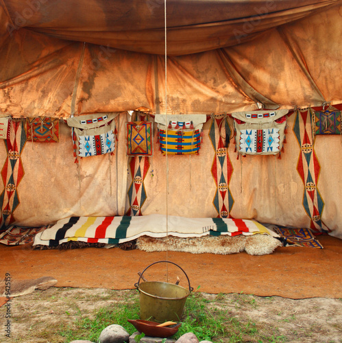 Papiers peints Indiens interior of the Indian tent