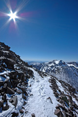 On the way to the mt Toubkal. Morocco. High-Atlas.