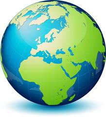Planète terre avec transparence, image vectorielle