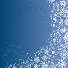 Christmas background with snowflake, vector illustration