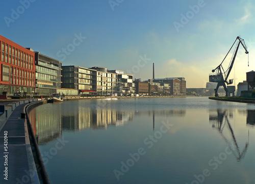 Leinwanddruck Bild Stadthafen Münster