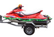 A red jetski with Christmas decorations - 5431776