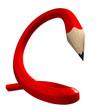 crayon flèche rouge