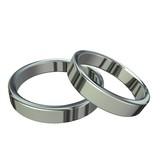 Platinum wedding rings poster