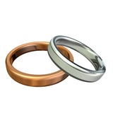 Gold and platinum wedding rings poster
