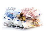 Euro money to pay with poster