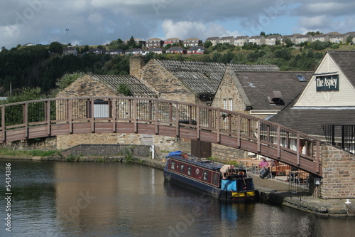 Staande foto Kanaal Huddersfield