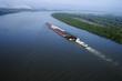 Leinwandbild Motiv Barge on Mississippi.