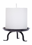 White candle cutout with clipping path poster