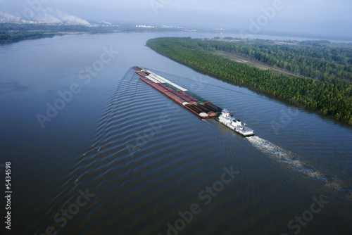 Barge on Mississippi. - 5434598