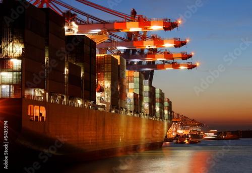 Containerschiff, Export, Hafen