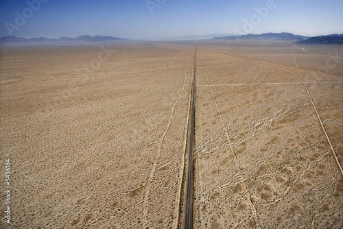 Road in desert.
