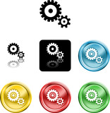 cog gears icon symbol icon poster