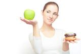 Fototapety choosing between apple and cake