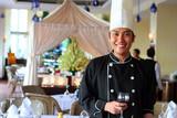Fototapety chef at restaurant