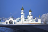 Orthodoxy church in Siberian city. Russia Novosibirsk